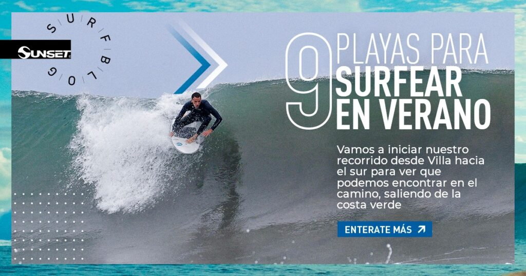Portada blog Sunset playas para surfear