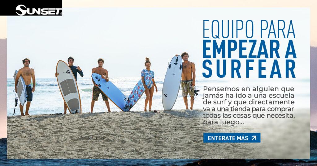 Lo que necesitas para empezar a surfear
