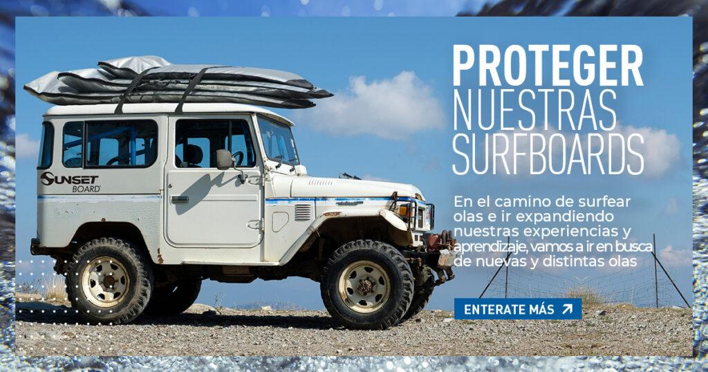 Portada de blog dedicada a las fundas de tablas de surf y otros métodos de protección de surfboards